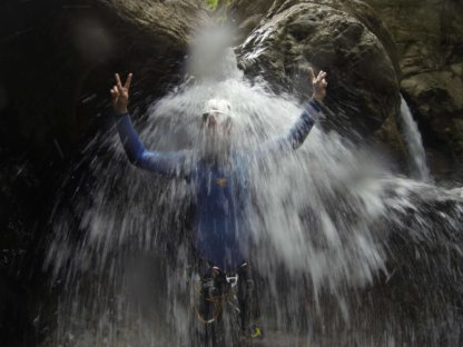 Canyoning Dusche