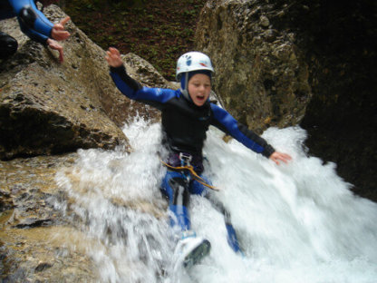 Canyoning Rutsche Kind