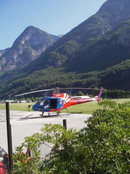 Canyoning Helikopter
