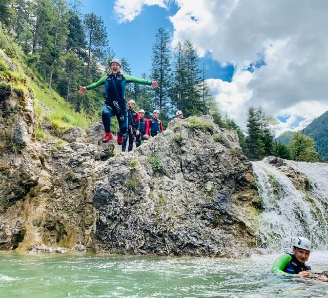 Canyoning Sprung Plansee